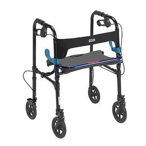 """Drive Adult Clever-Lite Patient Rollator with 8"""" Wheels, 300 lb Capacity"""