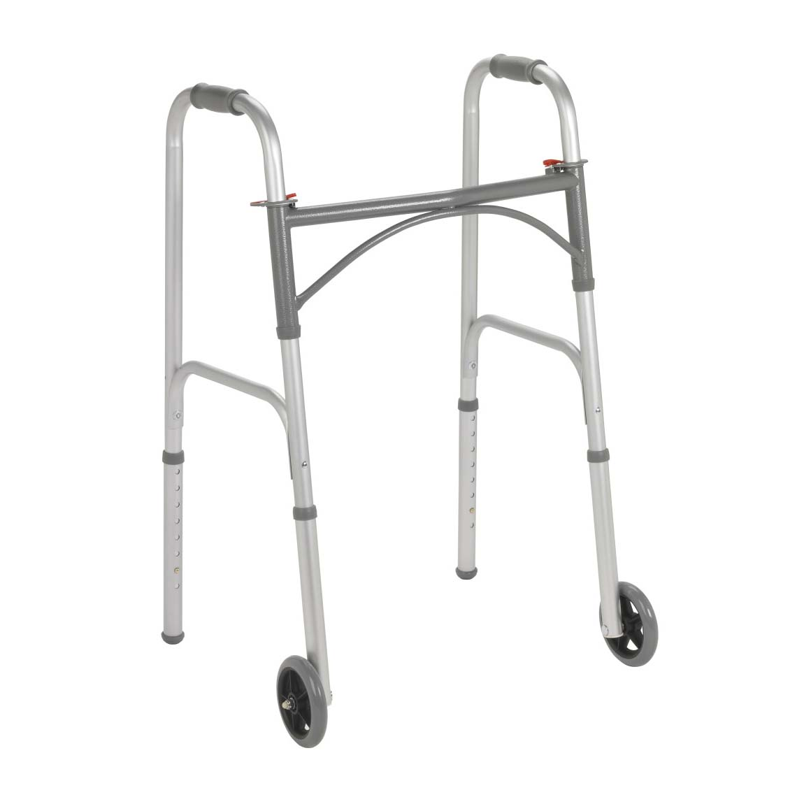 """Drive Folding Walker With 5"""" Wheels, Two-Button"""