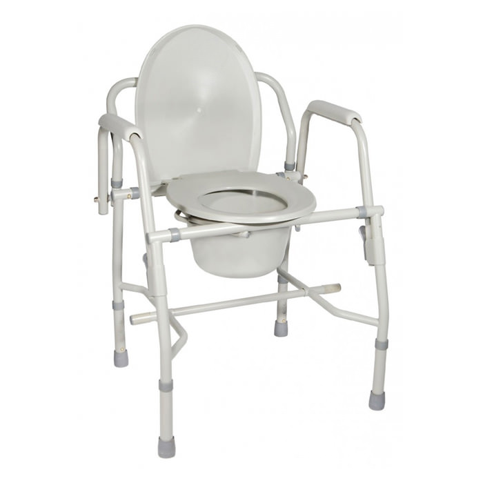 Drive Medical deluxe steel drop-arm commode