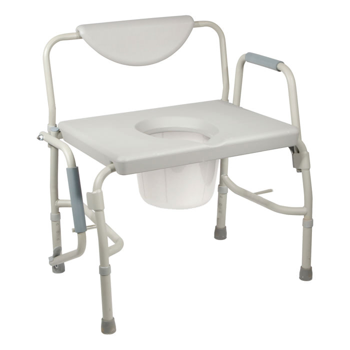Drive deluxe bariatric drop-arm commode