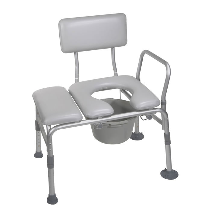 Drive Medical combination padded transfer bench/commode