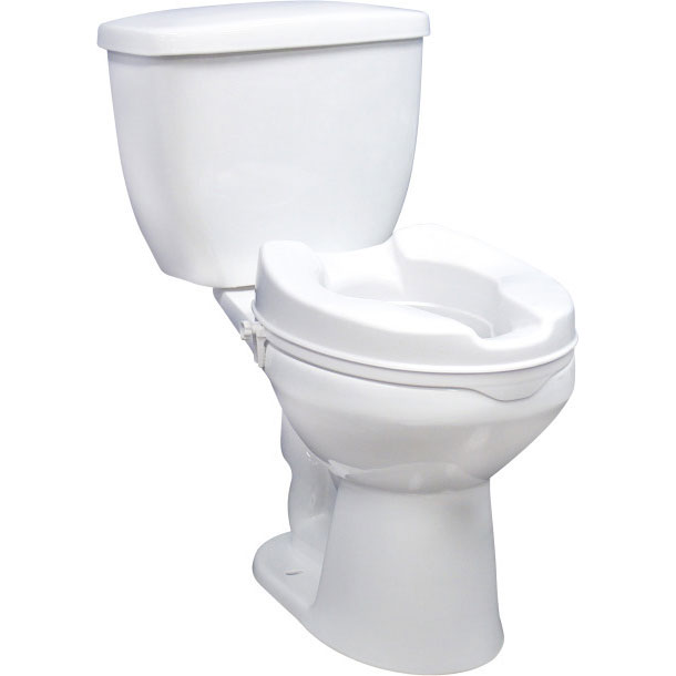 Drive Medical raised toilet seat without lid