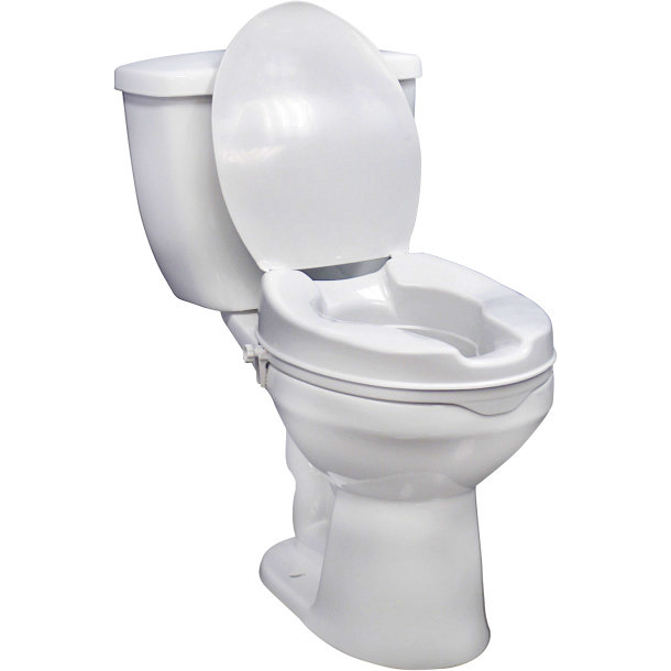 """Drive Medical raised toilet seat with Lid 4"""""""