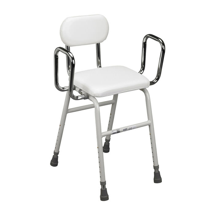 Drive medical all-purpose stool with adjustable arms
