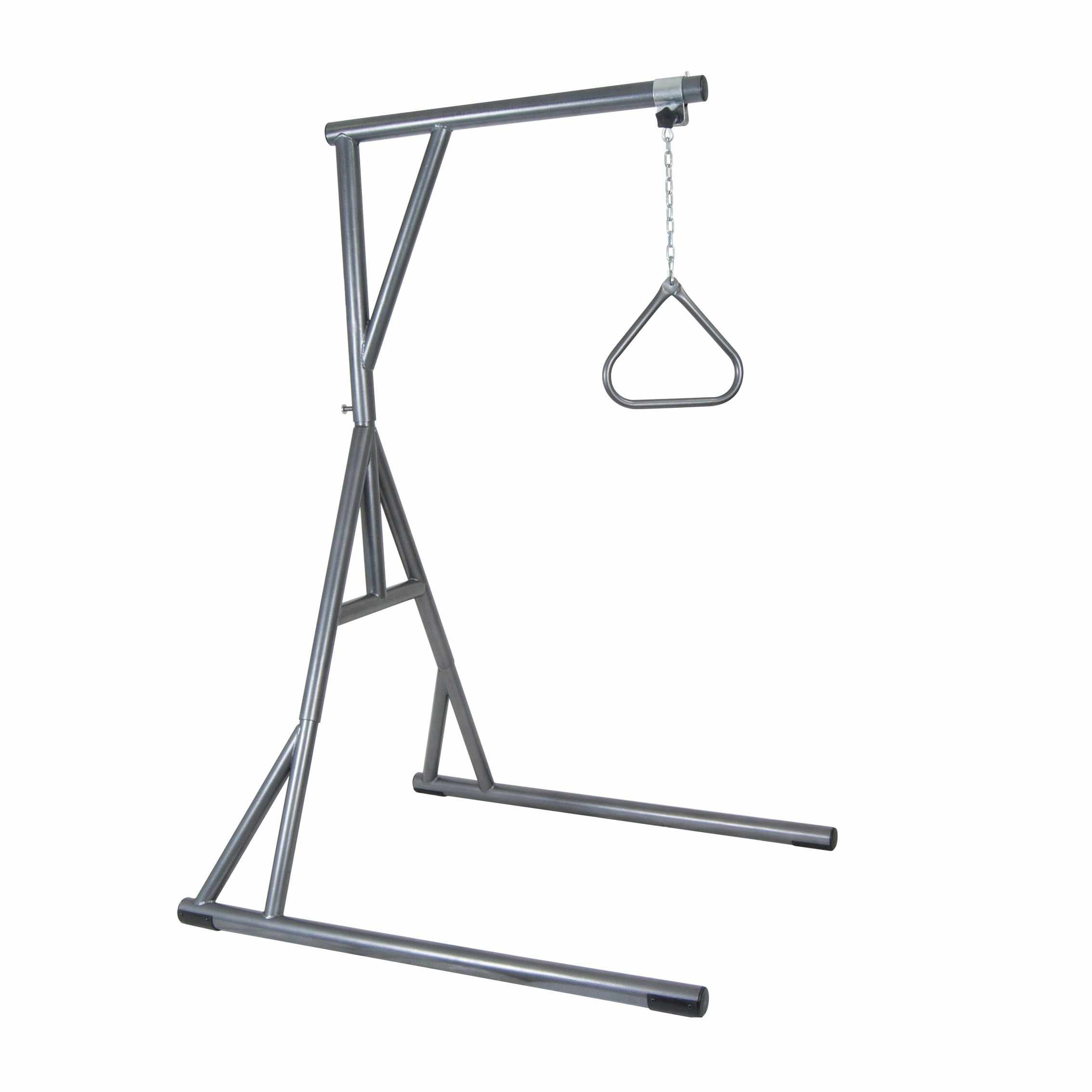 Drive Medical bariatric standing trapeze with base silver vein