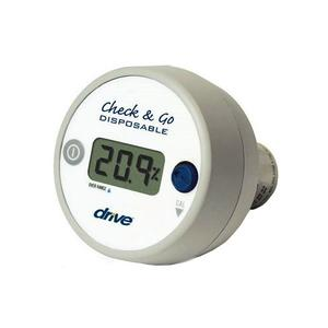 Drive Check and Go Oxygen Analyzer and Sensor, with 3-Digit LCD Display