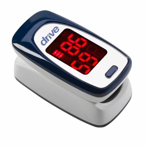 Drive Medical Fingertip Pulse Oximeter, 2 AAA Batteries