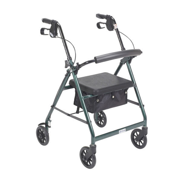 """Drive Medical aluminum rollator with 6"""" casters"""