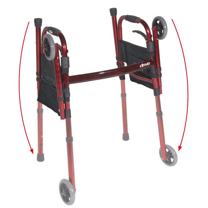 Drive Medical Deluxe folding travel walker