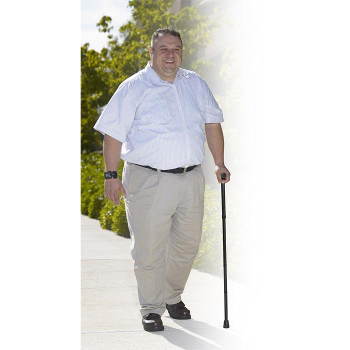Drive Medical bariatric height adjustable aluminum folding cane