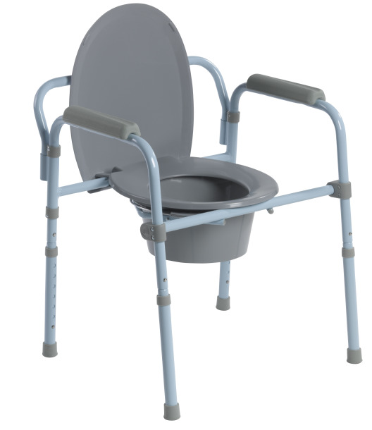 Drive Medical folding steel commode