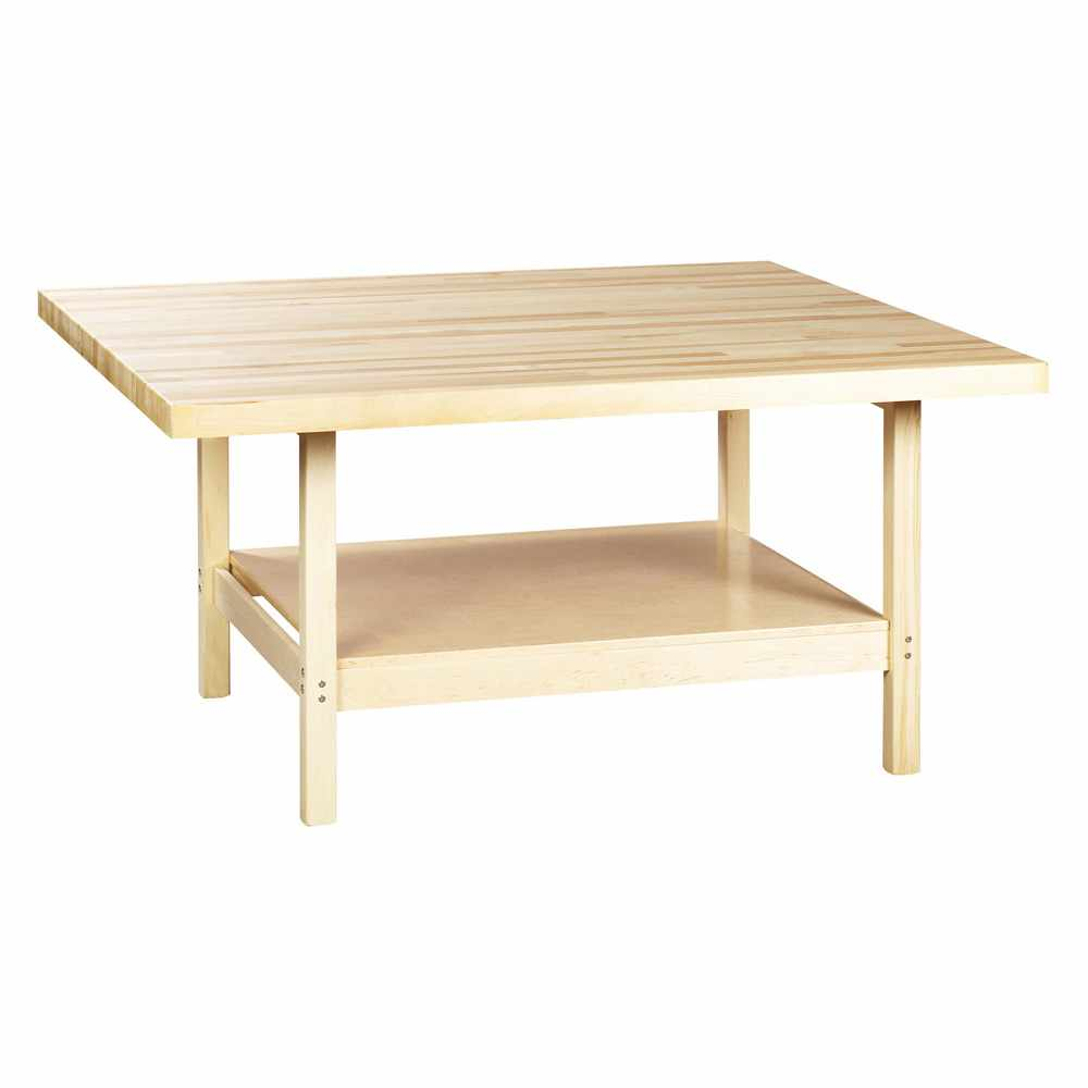 Diversified Woodcrafts maple 4-station workbench without vises
