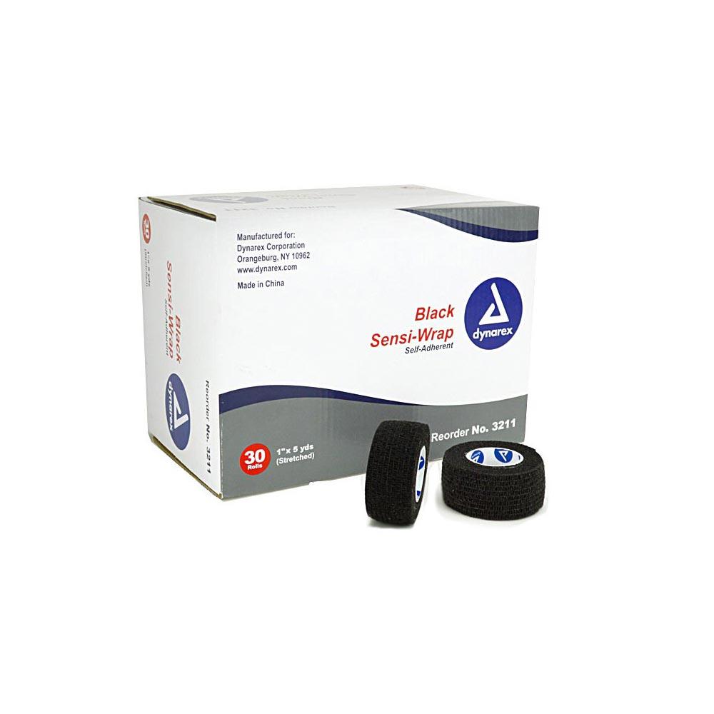 Dynarex Sensi-Wrap Compression Bandage, 1 Inch x 5 Yard, Black