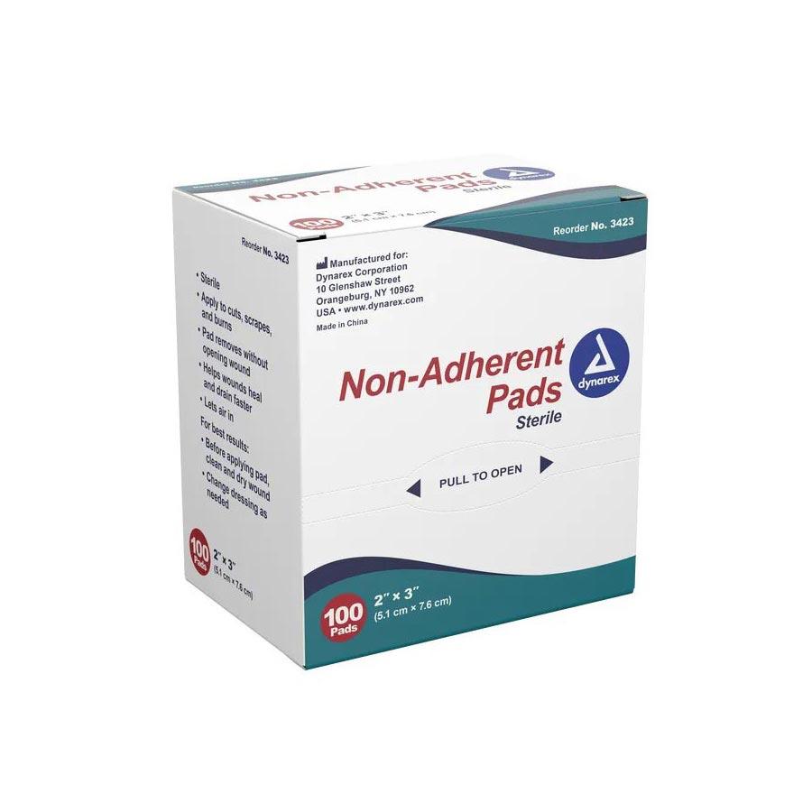"Dynarex Non-adherent Pad 2"" x 3"""