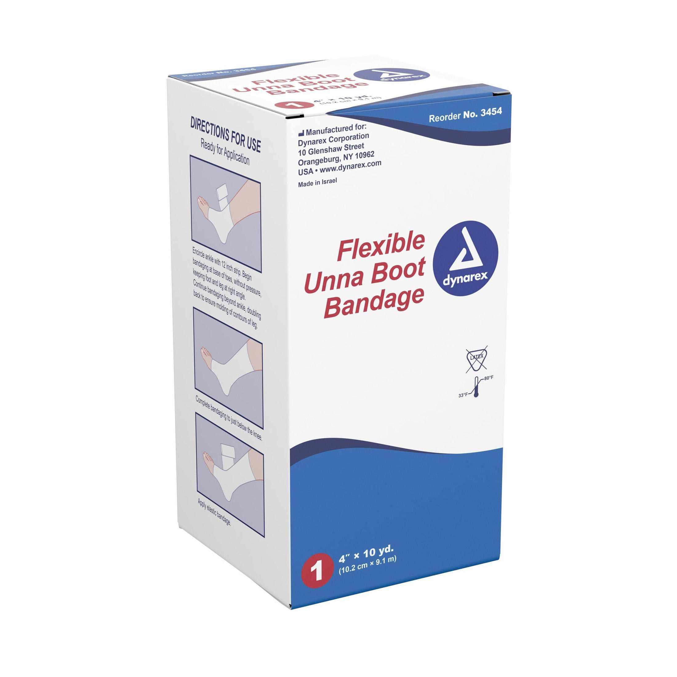 Unna Boot Bandage 4 Inch x 10 yard Zinc Oxide Paste NonSterile