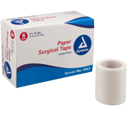 """Dynarex Surgical Porous Paper Tape 2"""" x 10 yards, NonSterile"""