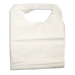 Dynarex Disposable Poly/Tissue Bib 16 x 23 Inch