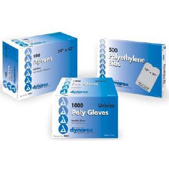 Dynarex Adult Disposable Lap Bib White