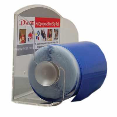 Dycem non-slip material roll rack dispenser