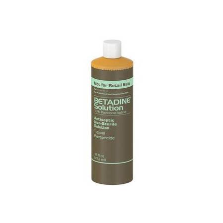 Emerson Betadine Antiseptic Solution, 10% Povidone-Iodine, 16 oz Bottle