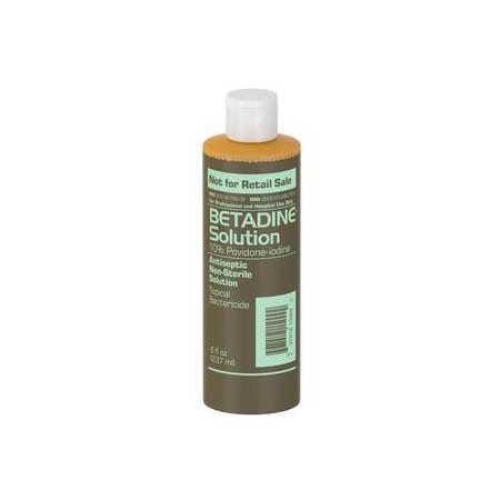 Emerson Betadine Antiseptic Solution, 10% Povidone-Iodine, 8 oz Bottle