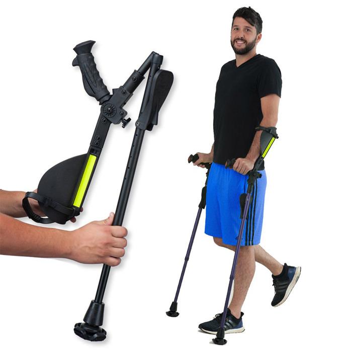 Ergoactives 7G Ergobaum Crutches   Ergoactives Forearm Crutches