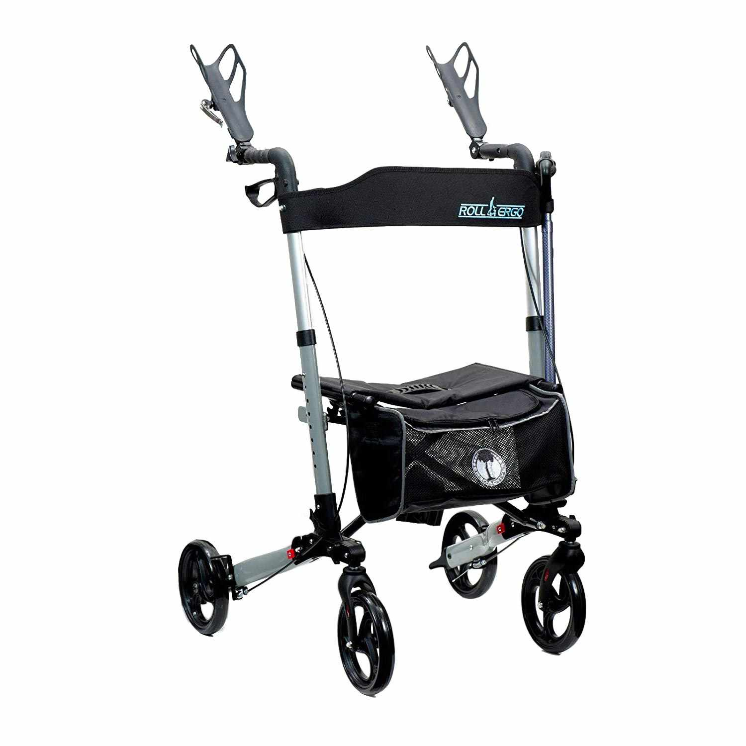 Ergoactives Roller-Go Double Foldable Walker With Forearm Support