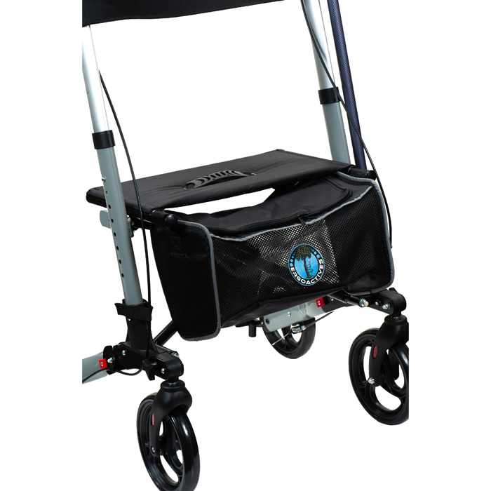 Ergoactives Roller-Go Double Foldable Walker - Basket