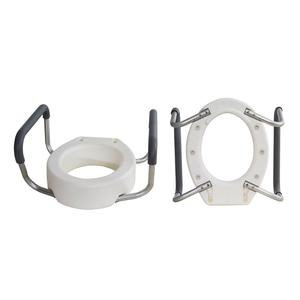 Essential Medical Standard Bowl Toilet Seat Riser with Removable Arms