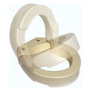 Essential Medical Hinged Toilet Seat Riser For Elongated Bowl