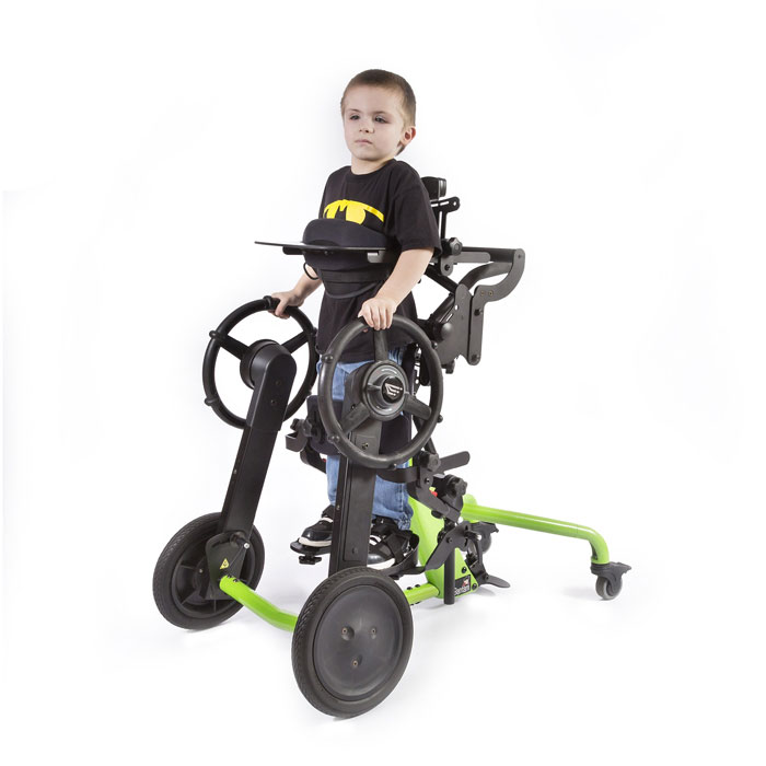 Bantam small stander with mobile wheels