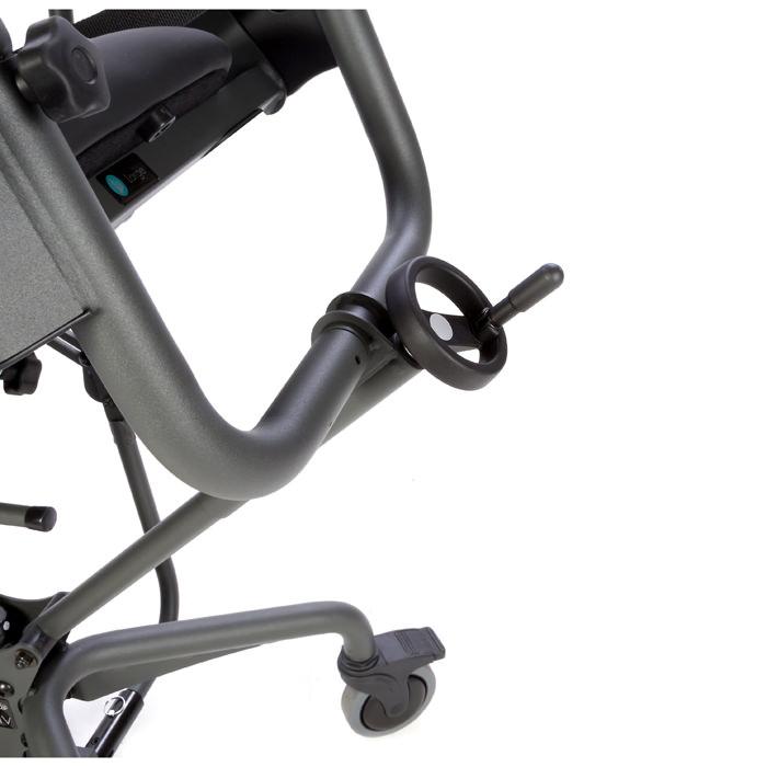 Back angle adjustment wheel for glider and evolv standers
