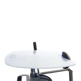 Easystand narrow clear tray for strapstand