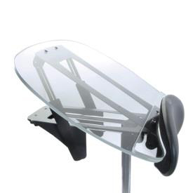 Easystand narrow clear angle adjustable tray for strapstand