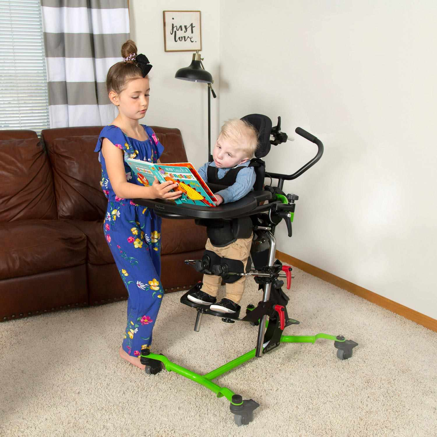 Zing supine pediatric standing frame