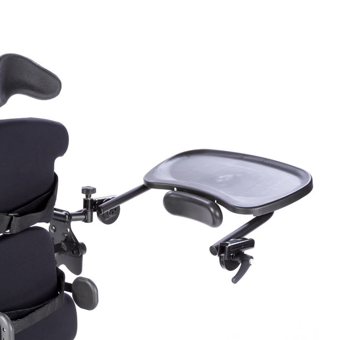 Easystand black molded swing-away tray for bantam extra small and small