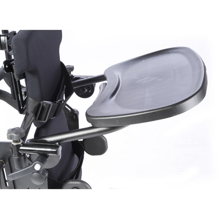 Easystand black molded swing-away tray