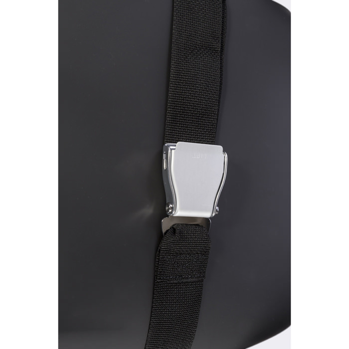 Positioning belt with airline style buckle for glider and evolv