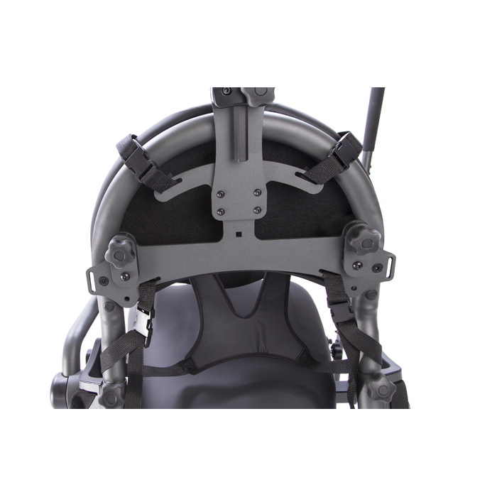 X-style chest vest attached to mounting bracket