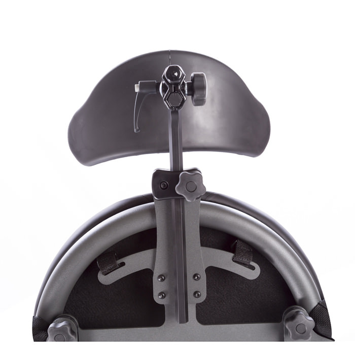 Easystand head support attached to mounting bracket