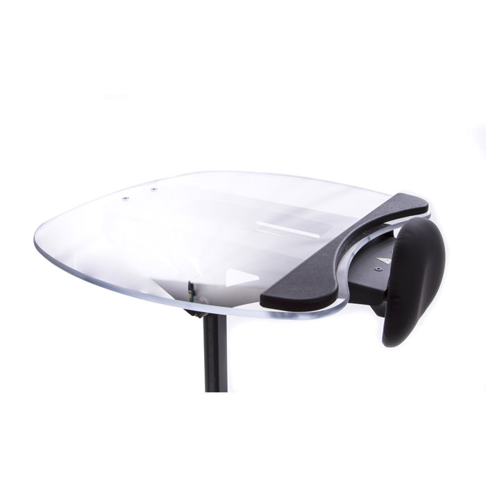 Easystand clear angle adjustable tray for evolv