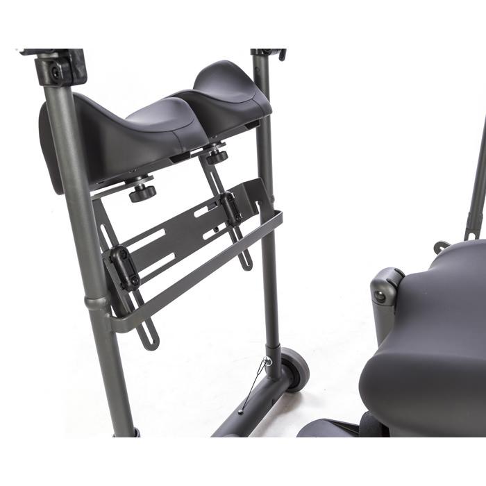 Independent swing-away knee pads for evolv stander