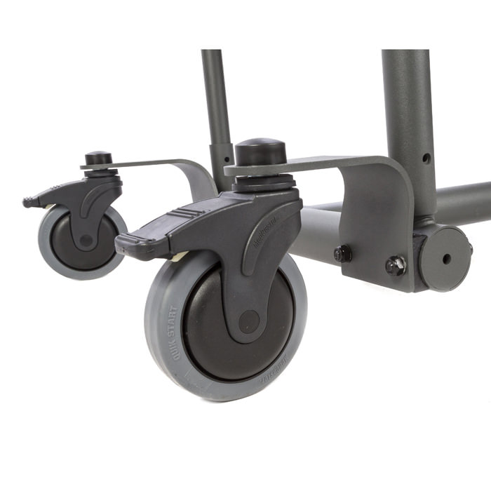 Easystand front swivel casters for swing-away front for evolv medium and large