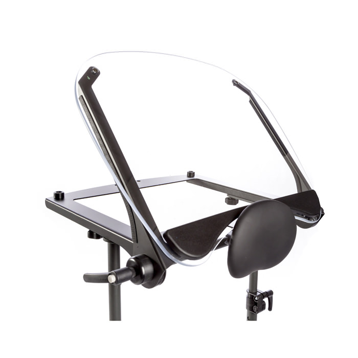 Clear angle adjustable tray for swing-away for evolv standers