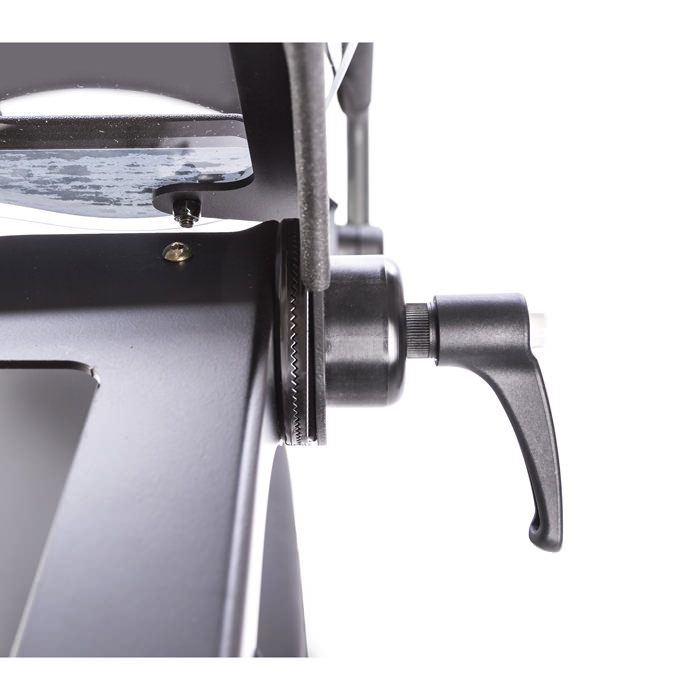Clear angle adjustable tray for swing-away for evolv - Adjustment handle