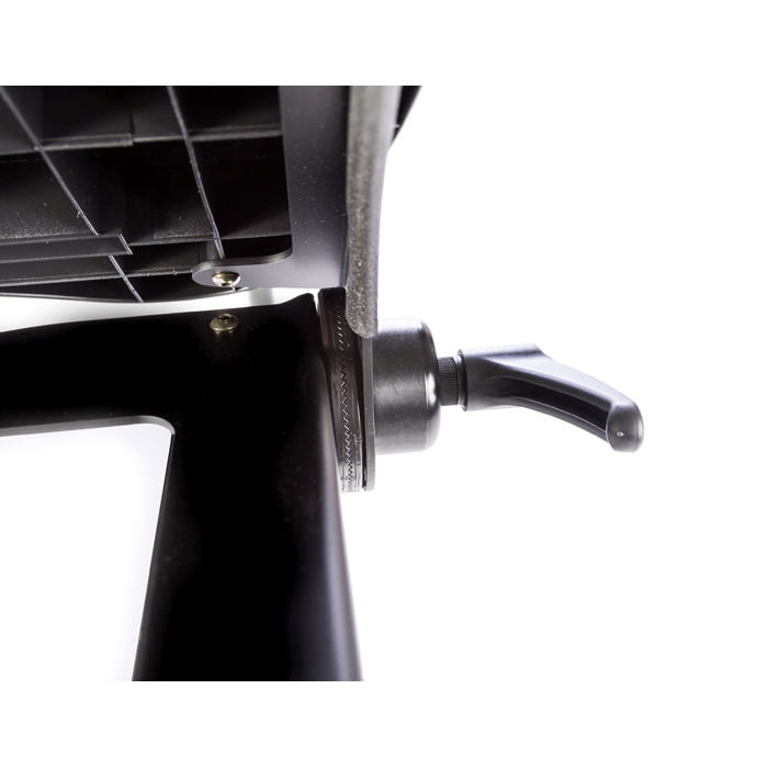 Black molded angle adjustable tray for swing-away for evolv - Adjustment lever