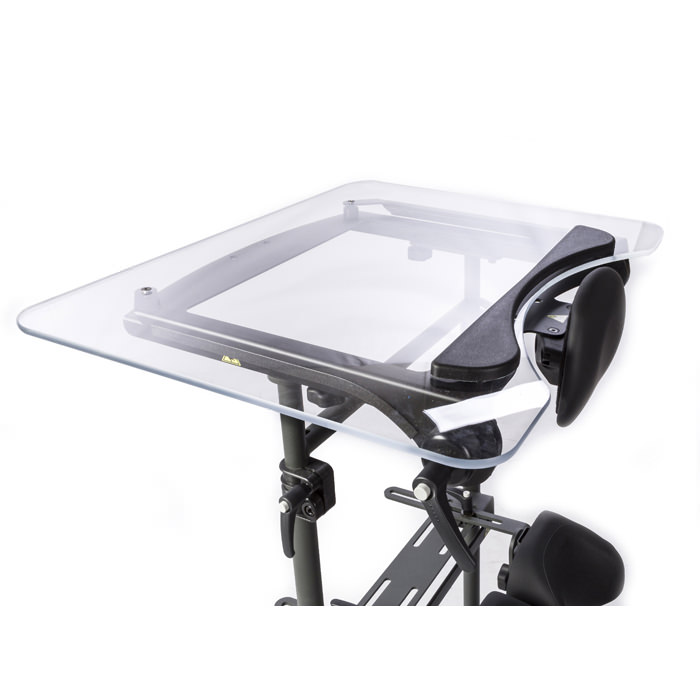 Easystand oversized angle adjustable tray for swing-away for evolv medium and large