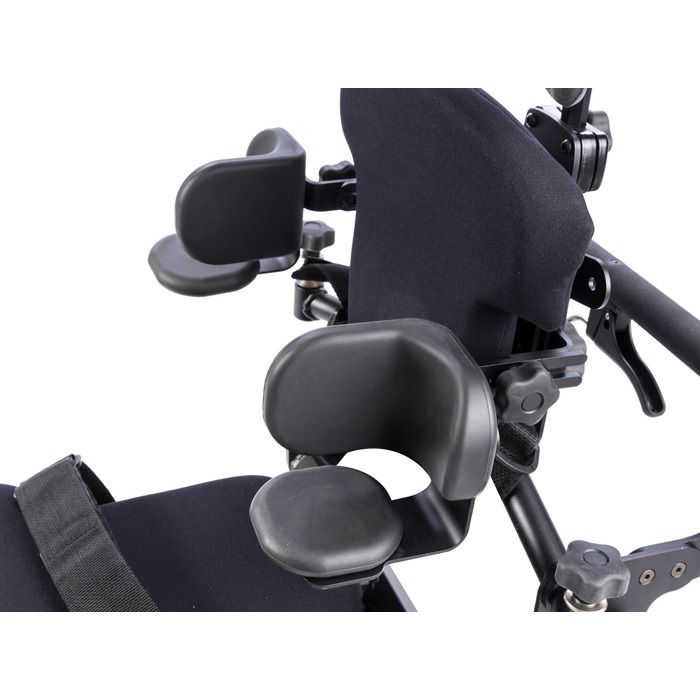 Lateral supports with elbow stop and arm rest for bantam extra small and small