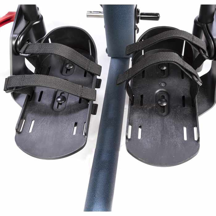 Secure foot straps with velcro for bantam stander