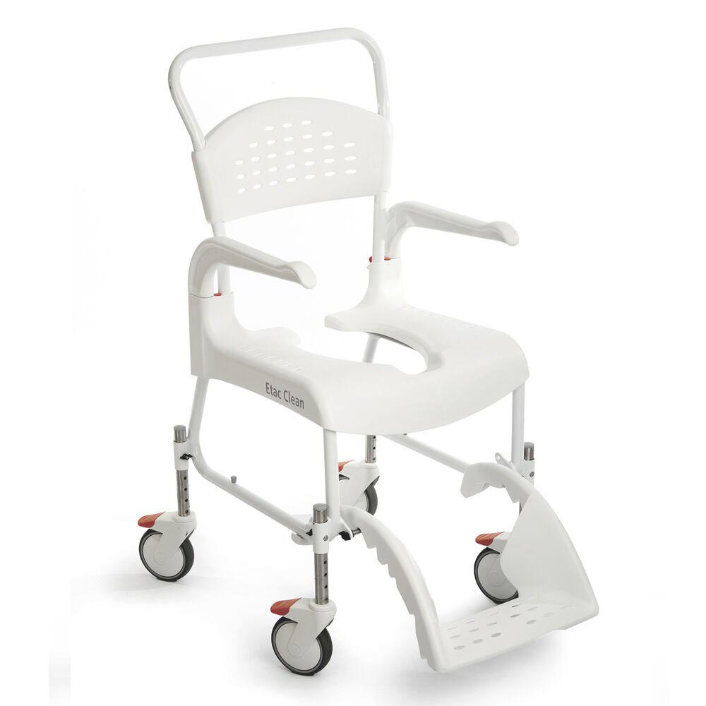 Etac Clean height adjustable mobile shower commode chair